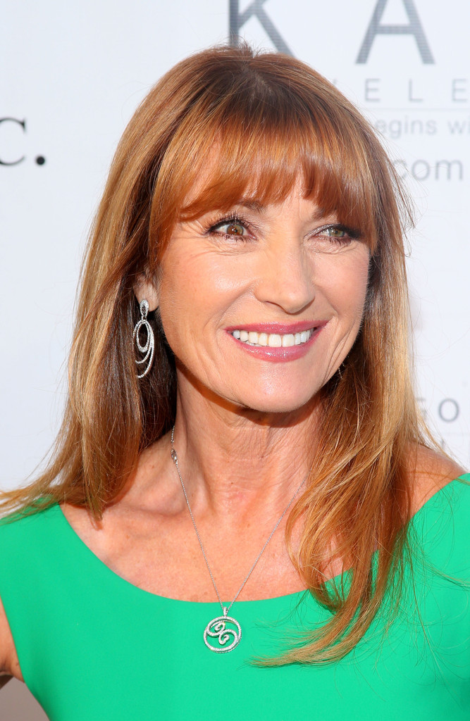 Jane Seymour S Long Straight Cut With Bangs Gorgeous