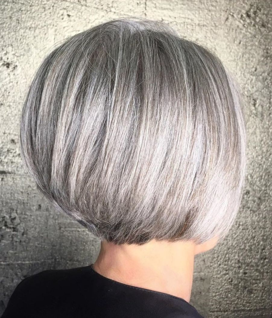 Rounded Bob With Stacked Nape - Stylish Short Haircuts To