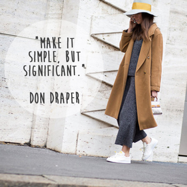Don Draper 'Make It Simple, But Significant' Quote