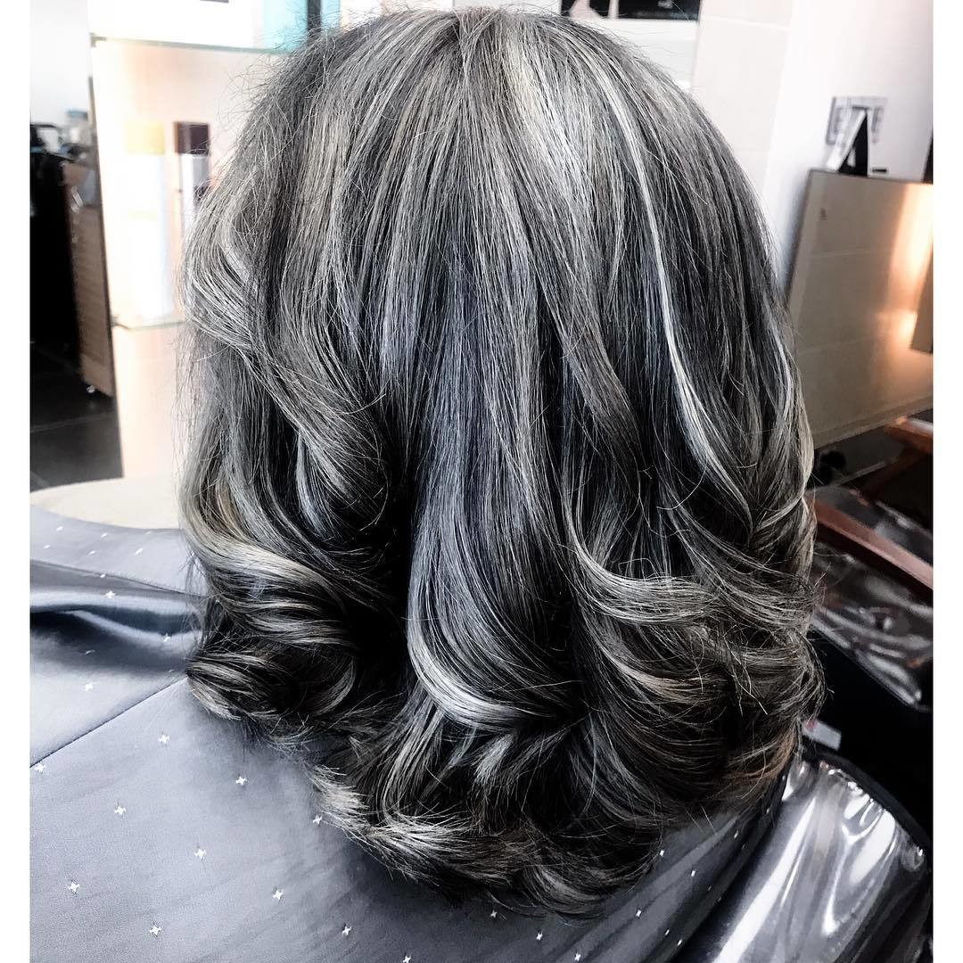 The Hottest Shades And Highlights For Gray Hair It S Rosy