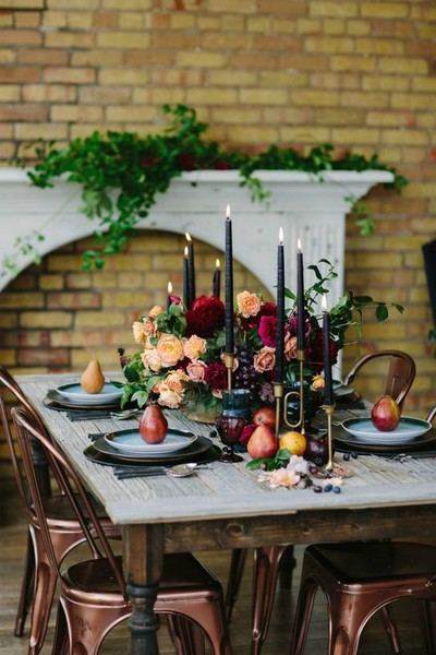 Moody Tablescape