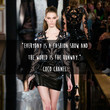 Coco Chanel 'World is the Runway' Quote