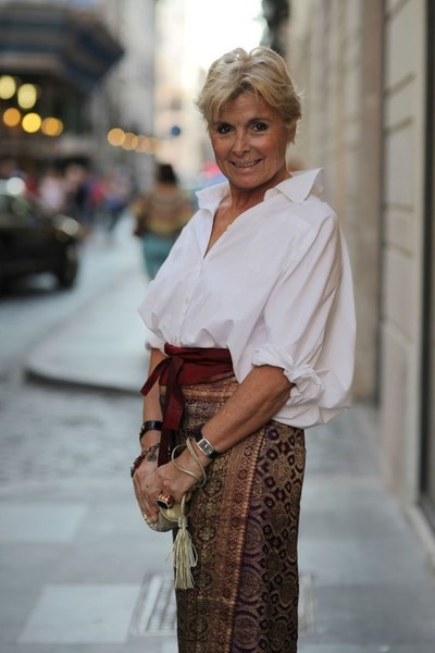 Pair Billowy Blouses With Wrap Belts