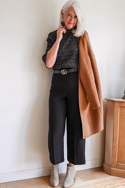 Cropped Trousers With Booties
