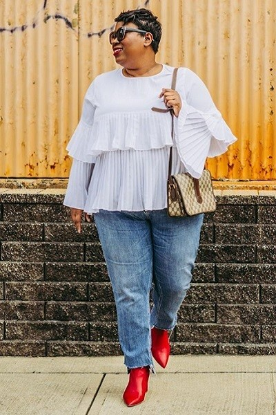 Mix Ruffles With Casual Denim